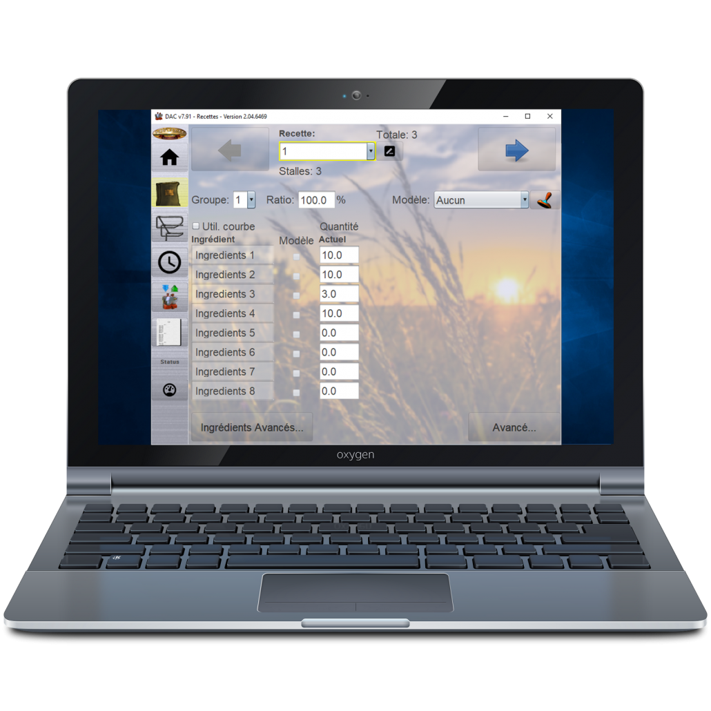 Laptop with Performixx Software